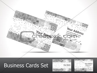 abstract sparkle matelic business card