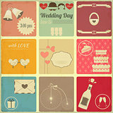 Wedding Set of Retro Cards