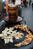 traditional chinese street food cuisine in shanghai china