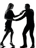 couple woman man dancing dancers salsa rock silhouette