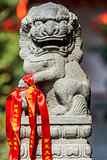 chinese imperial lion statue in the The Jade Buddha Temple shang