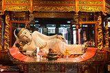 reclining statue in the The Jade Buddha Temple shanghai china