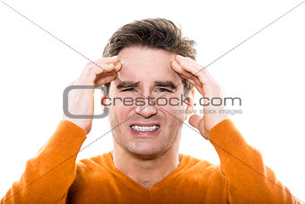 mature  man portrait headache