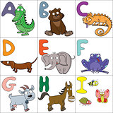 Alphabet with cartoon animals 1