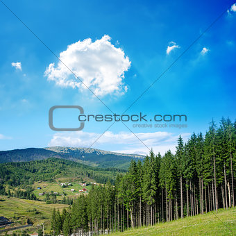Beautiful green mountain landscape