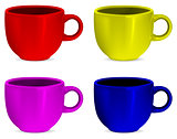 Colorful realistic blank cups