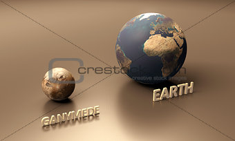 Ganymede and Earth