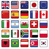 Vector set of Flags of world top states
