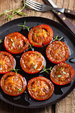 baked tomatoes with herbs and olive oil