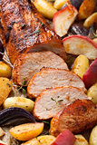 pork baked with vegetables