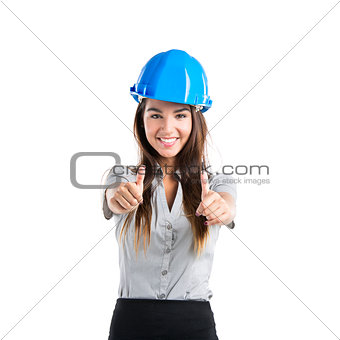 Confident female architect