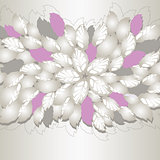 Silver and pink flowers and leaves book cover