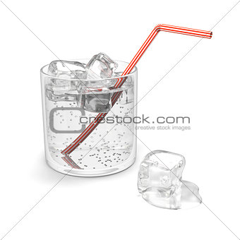 Glass of sparkling water