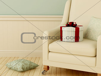 Gift on chair