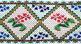 embroidered good by cross-stitch pattern