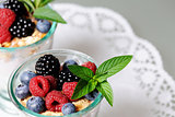 dessert with berries