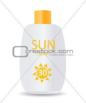 glossy sunblock cream