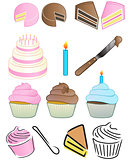 Cupcake Bakery Icon Set
