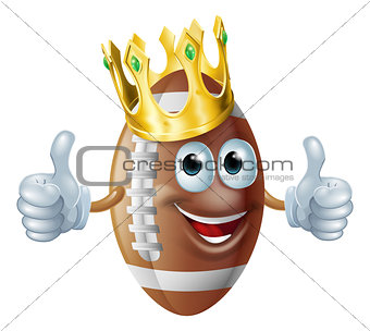 Cartoon football king mascot