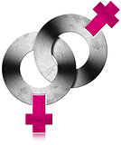 Gay Female Metal Symbols