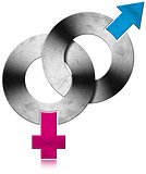 Male and Female Metal Symbols