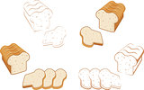 Set of bread