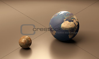 Callisto and Earth blank