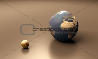 Europa and Earth blank