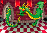 Inside the castle with dragon.