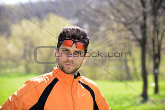 Portrait of Young Sportsman Outdoor