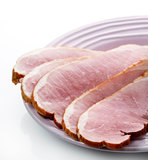 Sliced Ham On A Plate