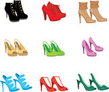 Female shoes set