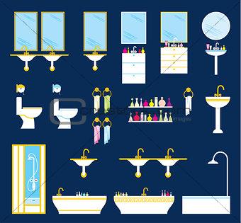 Bathroom equipment set