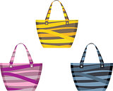 Set of beach bags