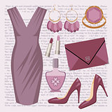 Fashion set with a dress