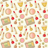 Seamless cosmetics pattern