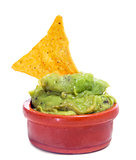 nachos and guacamole