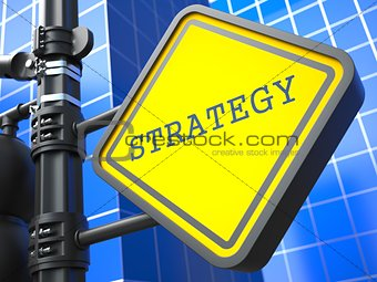 Business Concept. Strategy Waymark.