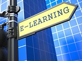 Education Concept. E-Learning Roadsign.