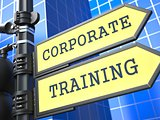Education Concept. Corporate Training Roadsign.