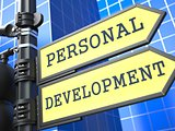 Education Concept. Personal Development Roadsign.