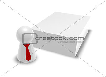 box and play figure with tie