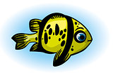 Cartoon yellow fish.