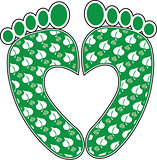 Green Footprint Heart