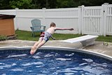 Perfect backwards dive