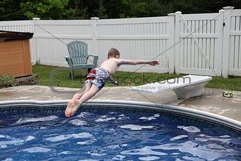 Perfect backwards dive