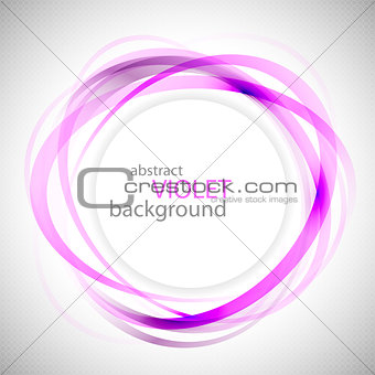 Abstract violet rings vector background