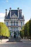 Statue near Louvre museum