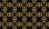 Floral geometry cyclical pattern