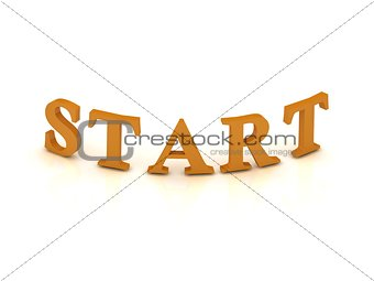 START sign with orange letters